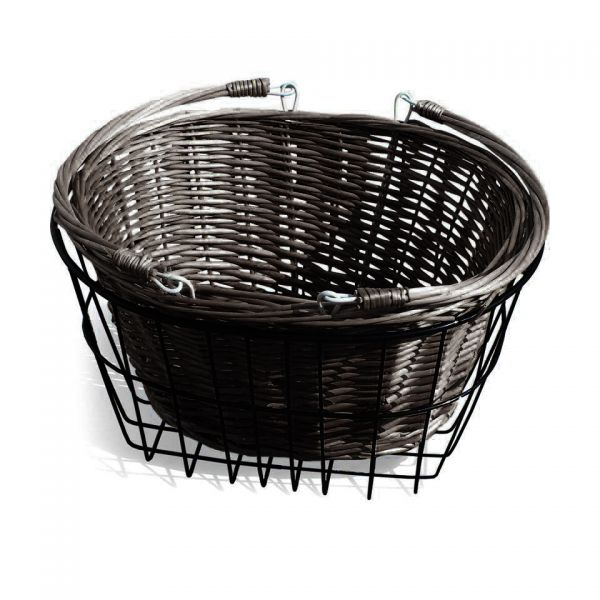 Dark Dutch Style Front Wicker Tricycle Basket – Detachable