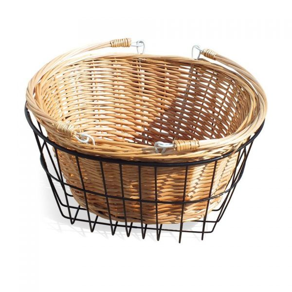 Dutch Style Front Wicker Tricycle Basket – Detachable