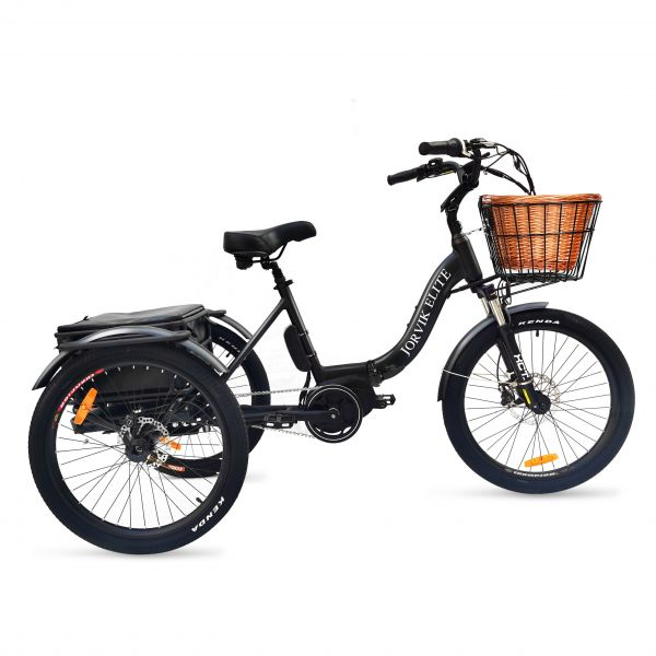 Jorvik Elite Mid-Drive Dual Battery Electric Folding Tricycle JET-E2