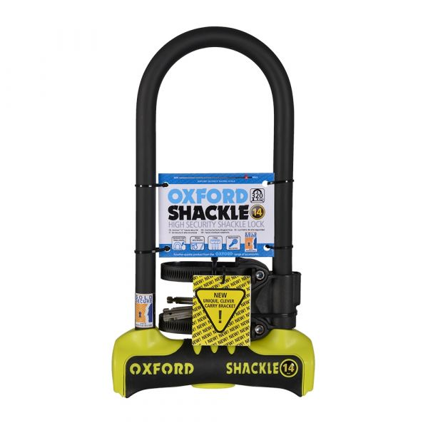 Oxford Shackle 14 U-Lock 320mm x 177mm Yellow