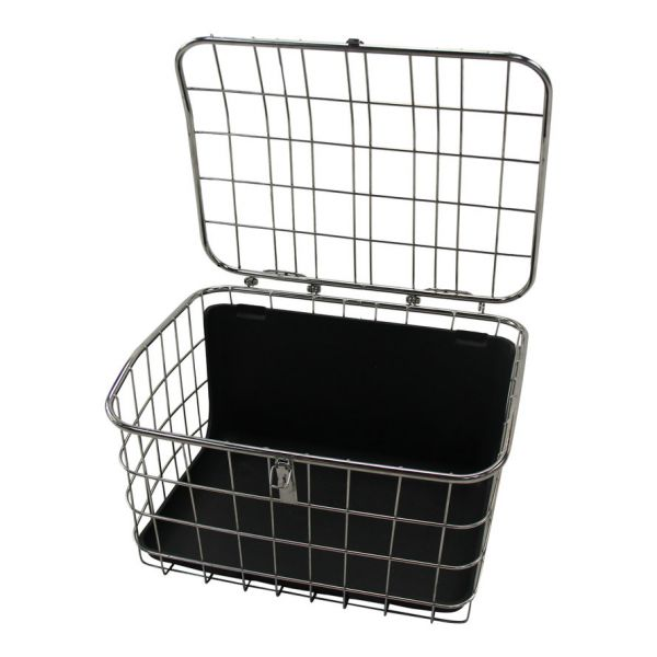 Jorvik Stainless Steel Rear Tricycle Basket - With Lid