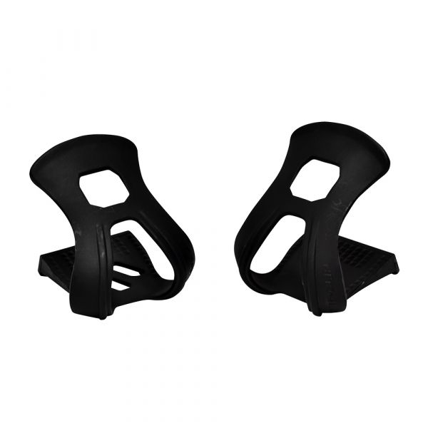 Resin Strapless Toe Clips Black (Pair)