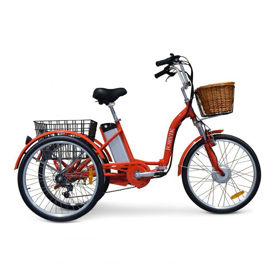 58b78e83379 Aluminium Folding Electric Adult Tricycle | Jorvik Tricycles